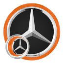 Genuine AMG Cap Centre Lock Design Orange