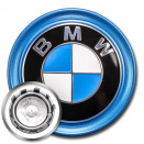 Genuine BMW Centre Cap Blue Ring