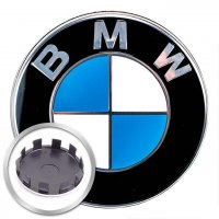 Genuine BMW Centre Caps Chrome Edge 57mm for 5x112 wheels