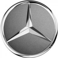 Genuine Mercedes Chrome Himalaya Grey Matt Caps
