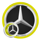 Genuine AMG Cap Centre Lock Design Signal Yellow